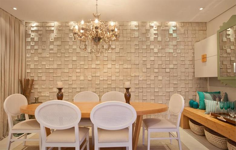 Revestimentos 3d a nova tend ncia para revestir paredes for Revestimento 3d sala de estar