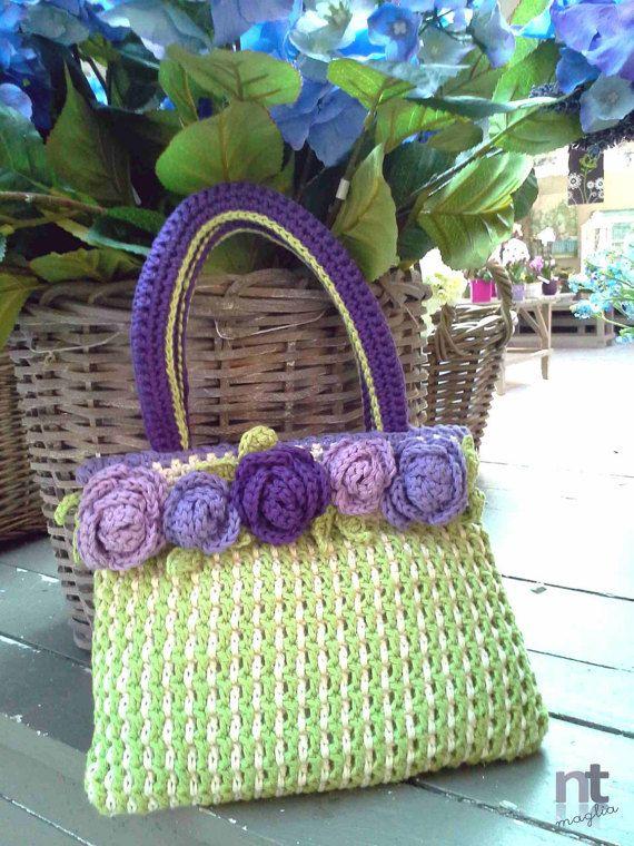 Roselline Purse | * DROPS Community * | Pinterest | Etsy, Crochet ...