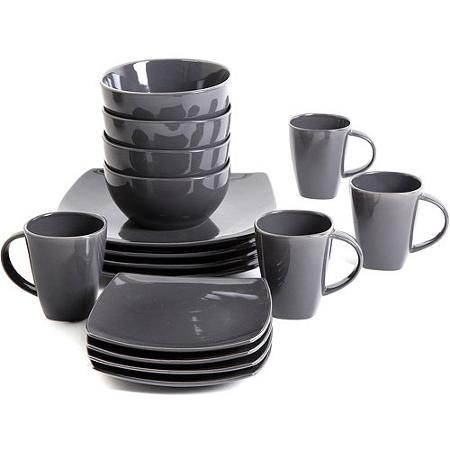 Gibson Home Soho Lounge Square 16-Piece Dinnerware Set - Walmart.com  sc 1 st  Pinterest & Gibson Home Soho Lounge Square 16-Piece Dinnerware Set - Walmart.com ...