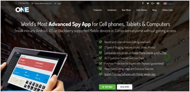 Cell Phone Spy Software TheOneSpy Review App, Cell phone