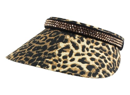 Ladies Clip-on Visor Audrey Full Visor - Animal Colors by Dolly Mama.  Buy it @ ReadyGolf.com