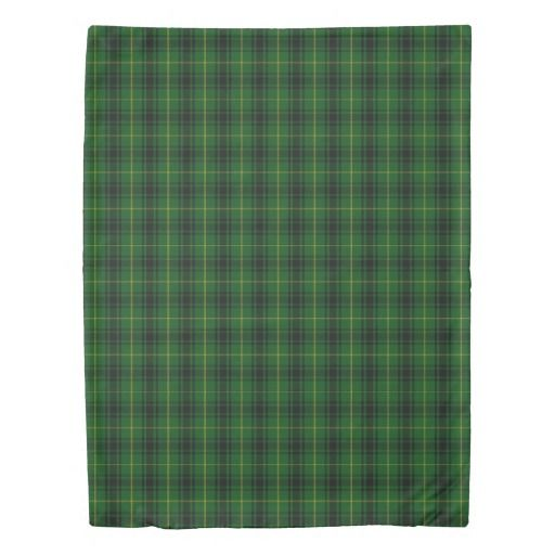 Green Clan MacArthur Tartan twin, queen or king Duvet cover. Exotic home décor
