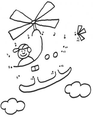 Dessin Coloriage Points A Relier Helicoptere Coloriage A