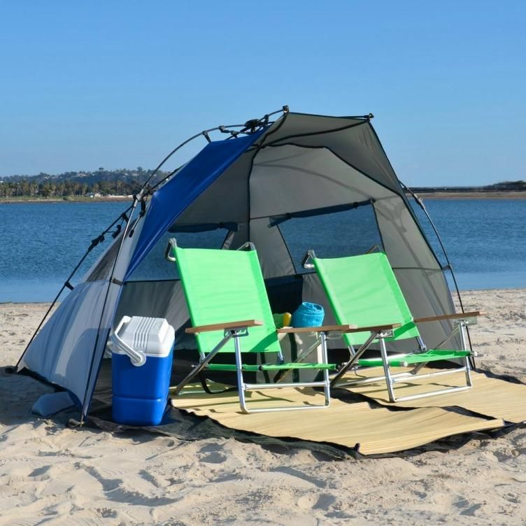 Amazon.com Lightspeed Outdoors Quick Cabana Beach Tent Sun Shelter Blue Sports & Amazon.com: Lightspeed Outdoors Quick Cabana Beach Tent Sun ...