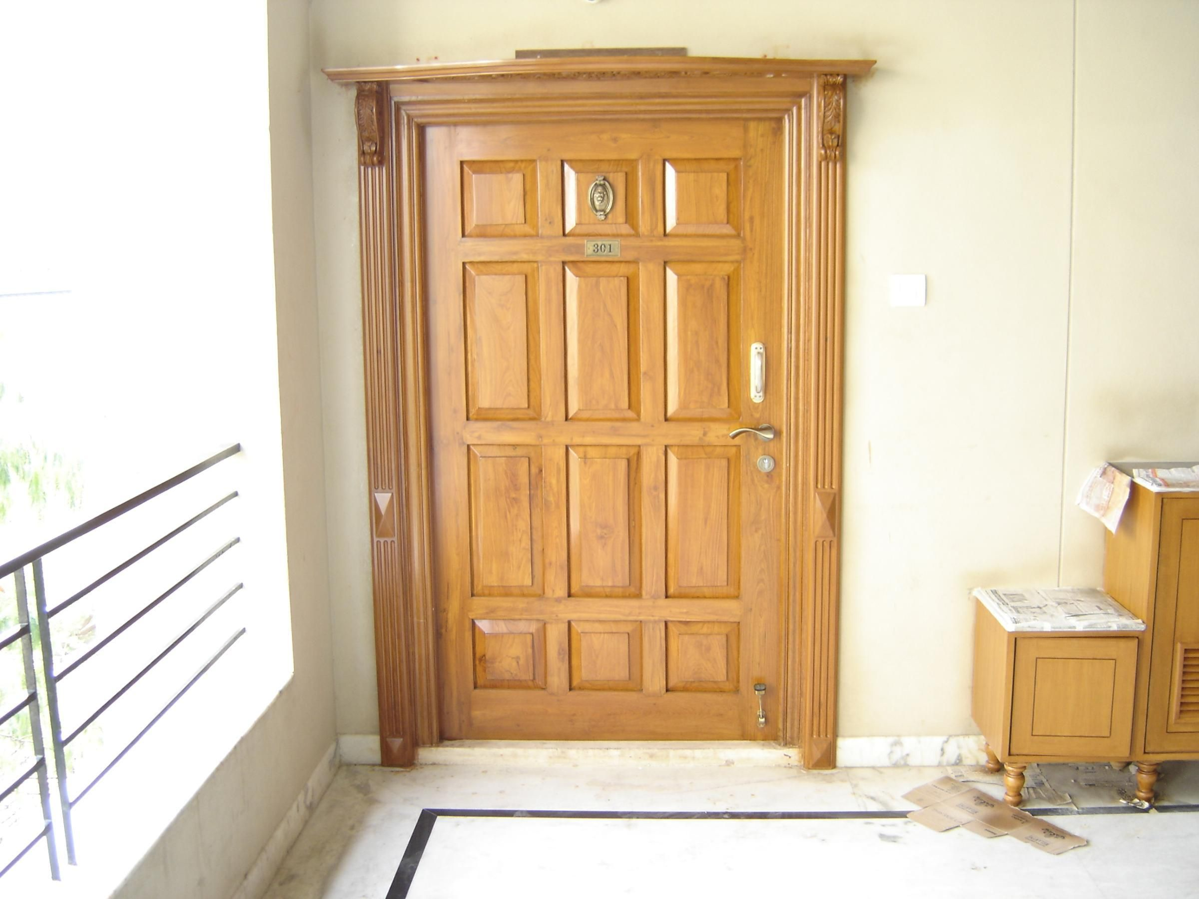 Main door design for flats photo