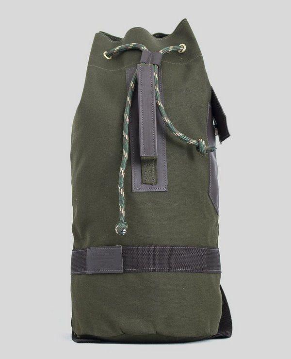 4f34daa2b Mochila Marinheiro Cauê Roma Verde - Lona e Couro Hylberman - Hylberman  malas, mochilas,