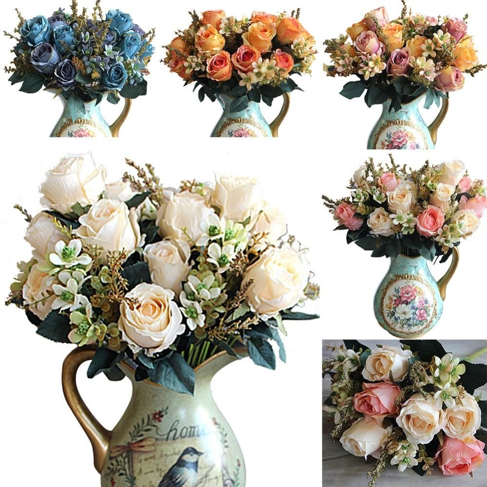 Visit To Buy 5 Colors Artificial Rose Flowers Decoration Fleur