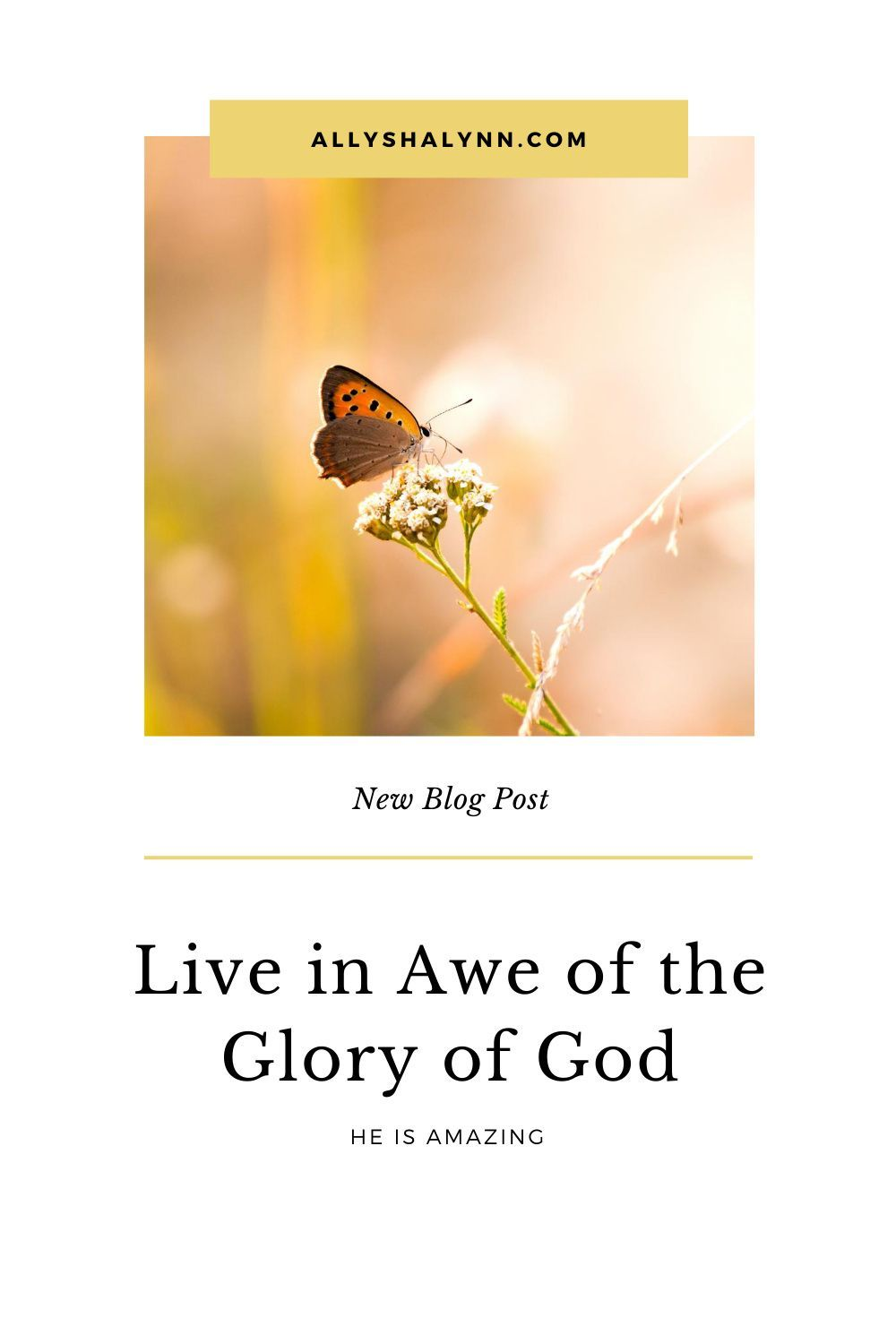 Live In Awe Of The Glory Of God Allysha Lynn In 2020 Faith Blogs God Worship The Lord