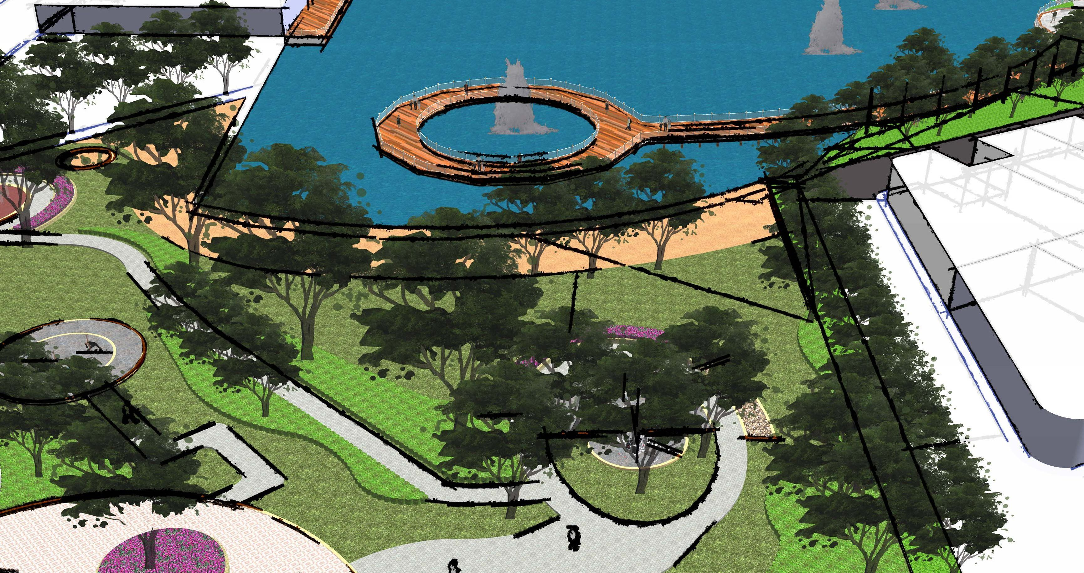 Jogging Track Design 3D View