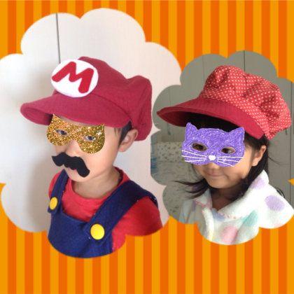 リバーシブルマリオ帽子