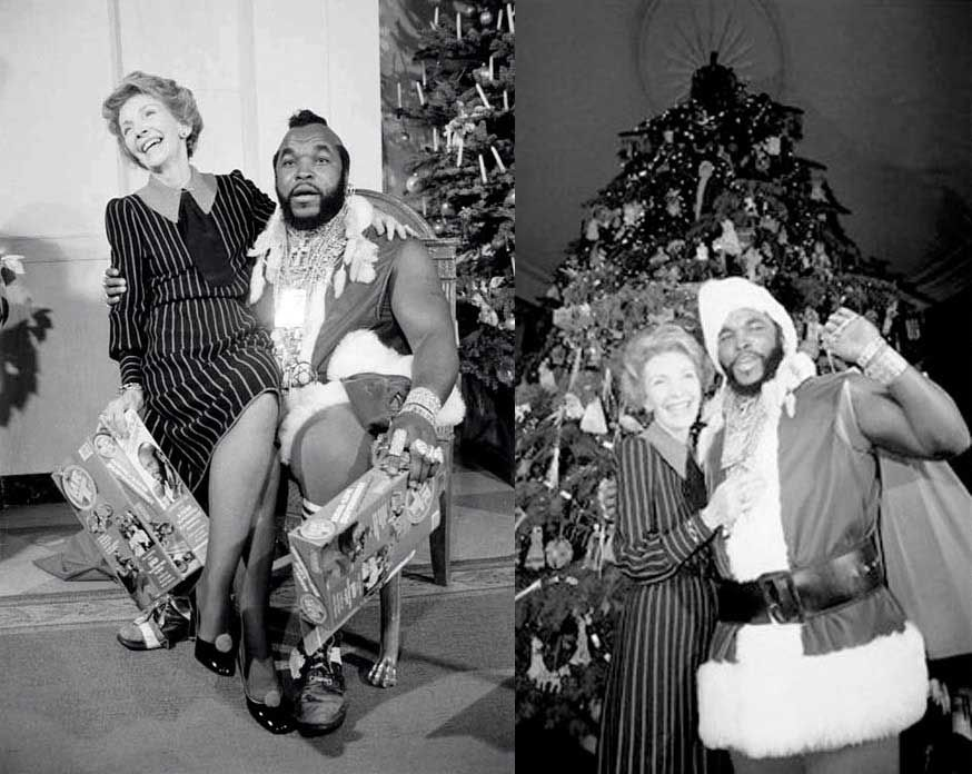 Nancy Reagan and Mr. T | Rare, weird & awesome celebrity photos