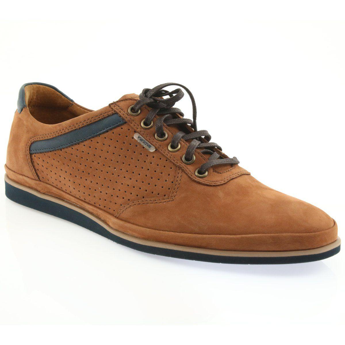 Lekkie Polbuty Sportowe Badura 3523 Brazowe Shoes Air Max 90 Leather Shoes Mens