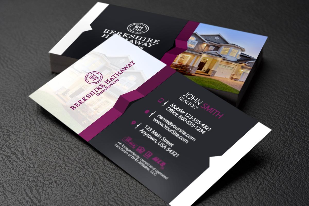 Berkshire Hathaway Realtors We Ve Got New Business Cards Just For You Realtor Berkshirehath Business Cards Online Glossy Business Cards Free Business Cards