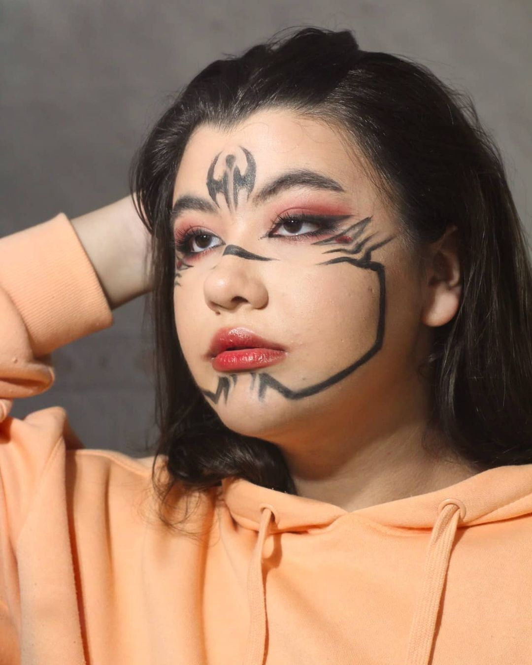 Ana Anabeatriz Mua Added A Photo To Their Instagram Account Sukuna This Makeup Was So Much Fun To Make It S Inspired By Sukuna Ryomen A Characte En 2021