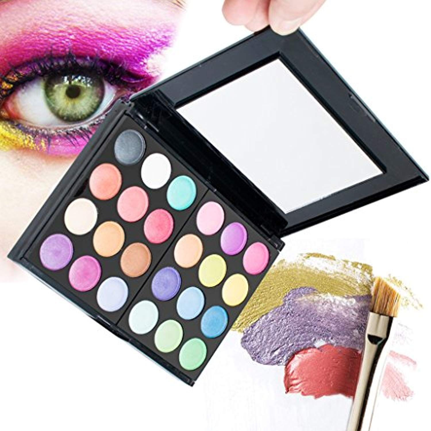 Pro Warm Colors Matte Shimmer Eyeshadow Palette Makeup Kit