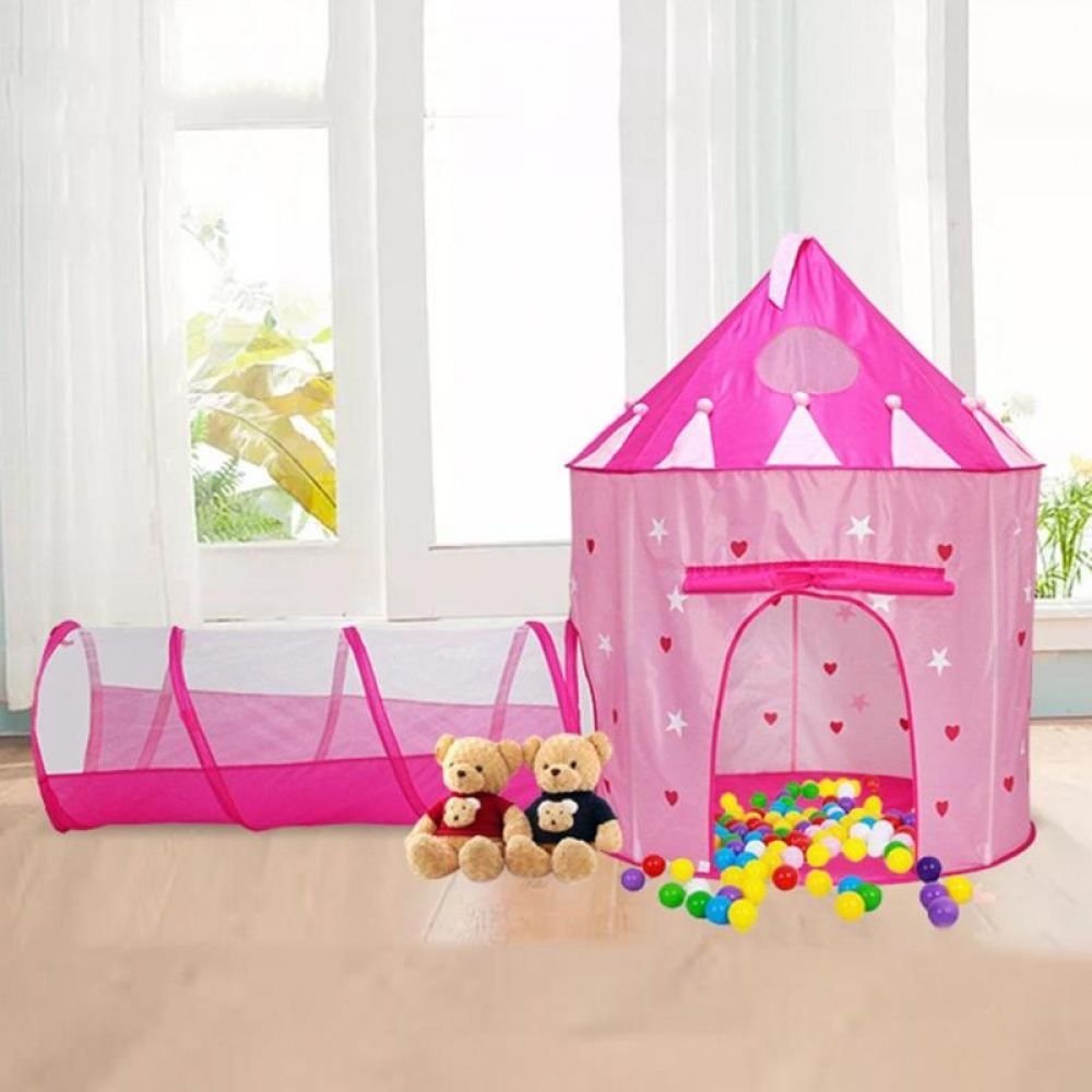 2 In 1 Baby Tent House With Tunnel Yurt Kids Indoor Outdoor Ocean