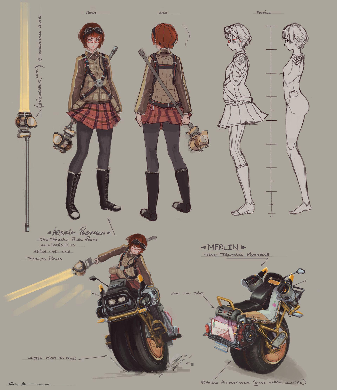 Character Design Ma : Artstation arturia concepts saimon ma character