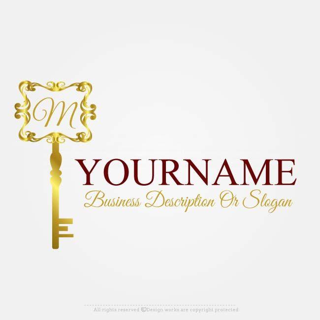 Online Free Logo Maker Vector Gold Key Logo Design Top Real