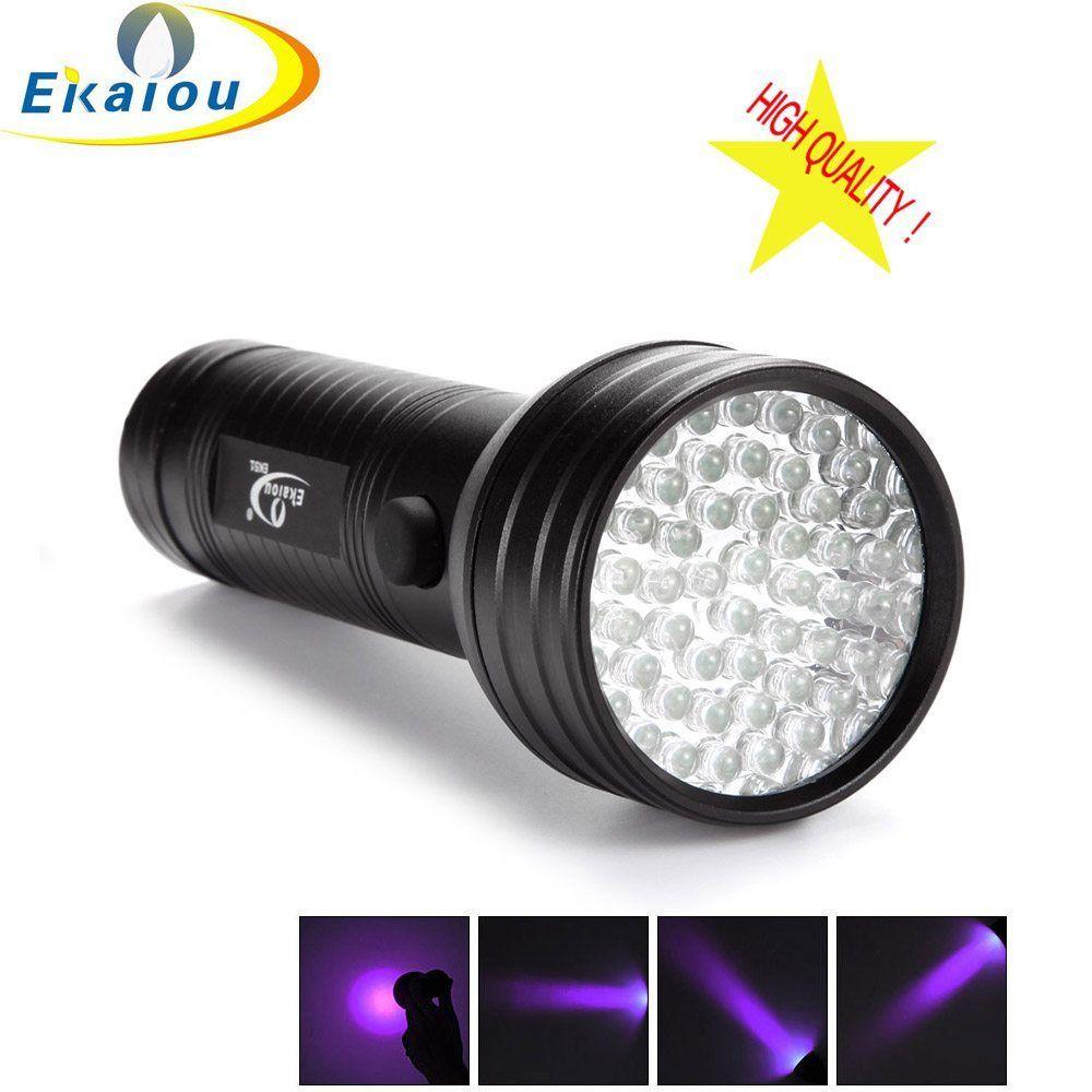 High Quality 51 LED UV Light Flashlight Torch Ultra Violet Black Light  Detection For 3 AA Battery + //Price: $10.92// #shop