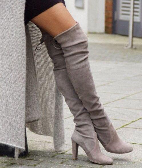 hoge over de knie laarzen