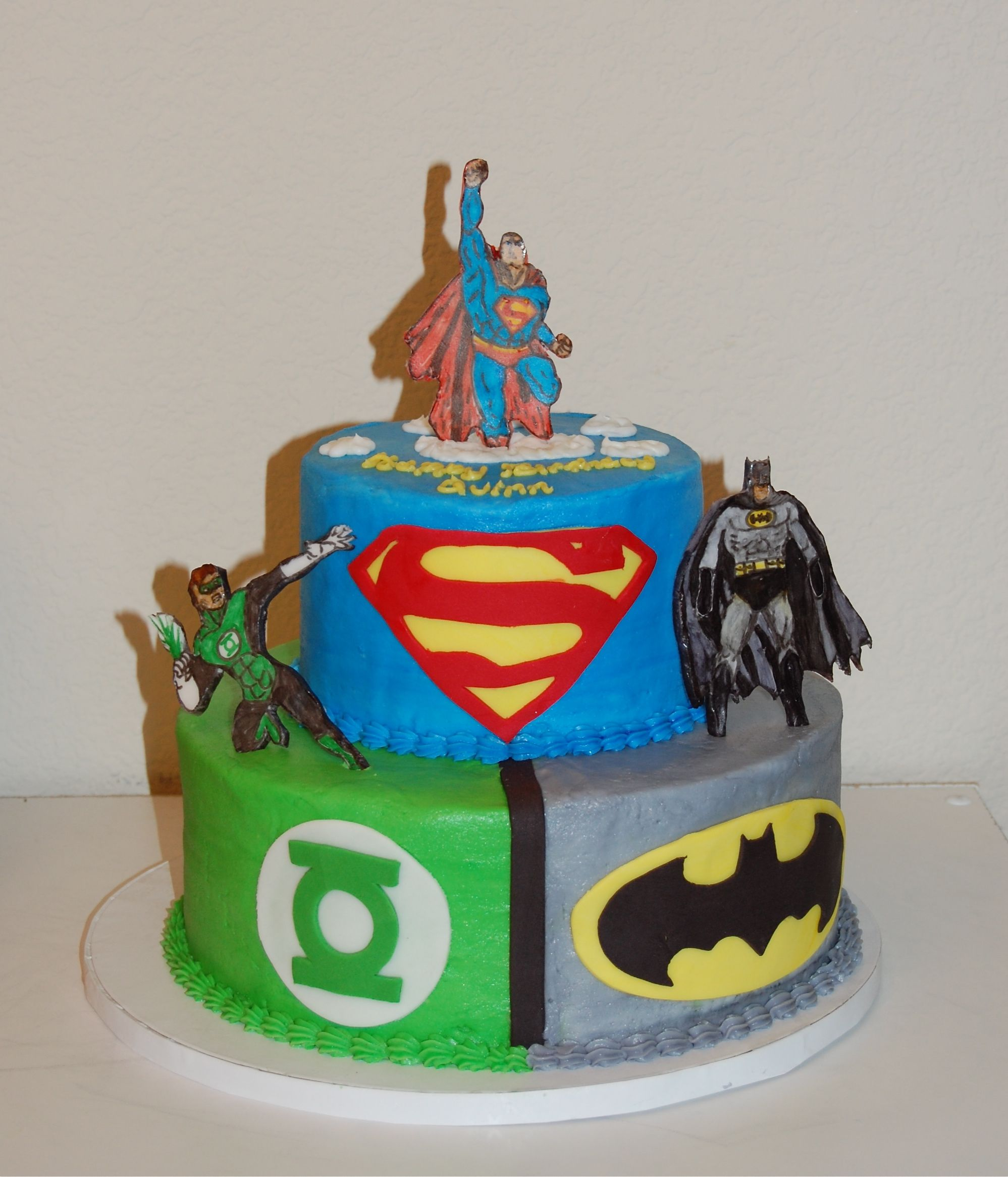 Amazon Green Lantern Cake Topper And 24 Justice League Cupcake Toppers Everything Else