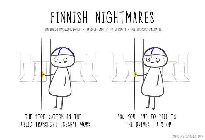 Finnish Nightmares That Every Introvert Will Relate To Humor - Hilarious comics that every introvert will understand