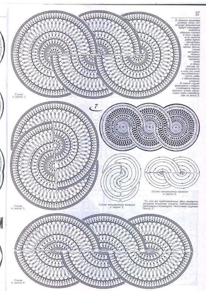 how to make a crocheted table path crochet crochet. Black Bedroom Furniture Sets. Home Design Ideas