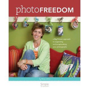 I love this book called Photo Freedom from the founder of Simple Scrapbooks, Stacy Julian. I am so gonna adopt her strategy for scrapbooking.