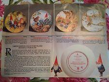 Rien Poortvliet Kabouters Four Seasons Collectie van 4 platen met zuivere 24-karaats goud ba        lb xxx.