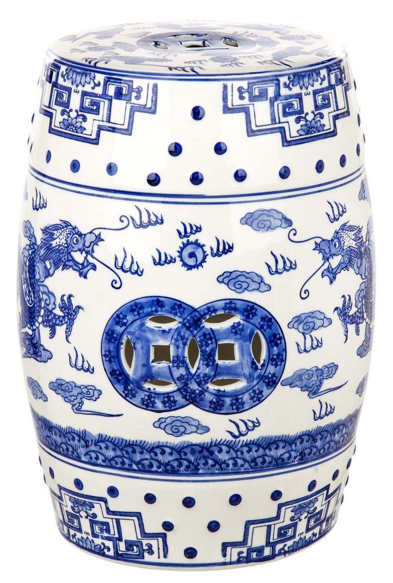 Acs4554a Garden Stools Safavieh Ceramic Garden Stools Blue Garden Stool Garden Stool