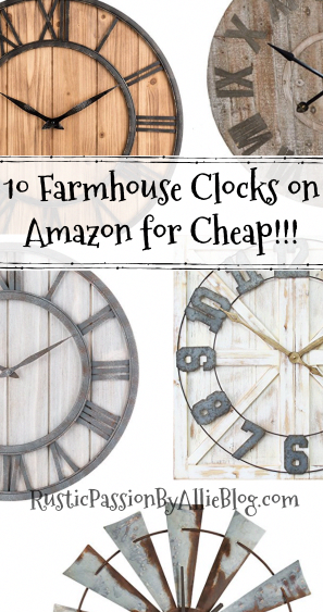 68b6b3df25f7 Do you love BIG Farmhouse Clocks as much as me? You will LOVE this list of Farmhouse  Clocks on Amazon for cheap! These Clocks are gorgeous and have the ...