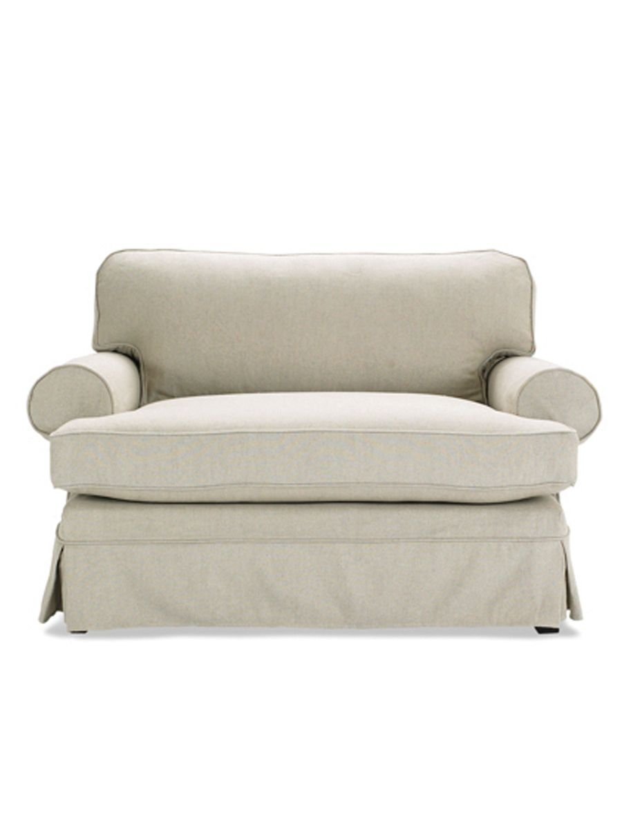 Slipcover For Oversized Chair And Ottoman Alexis Chair And A Half From Mitchell Gold Bob Williams Paired