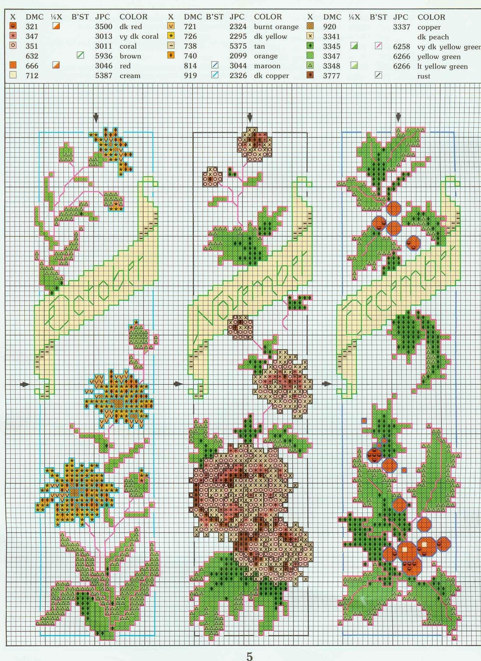 Схемы для закладок цветы