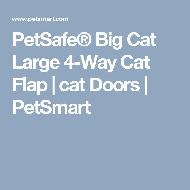 Petsafe Big Cat Large 4 Way Cat Flap Cat Doors Petsmart Stuff