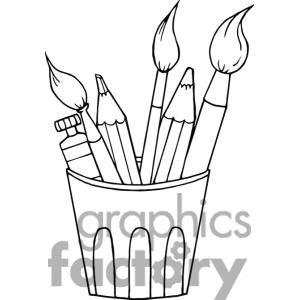 Art Supplies Clipart Royalty Free Clipart 380884 Clip Art