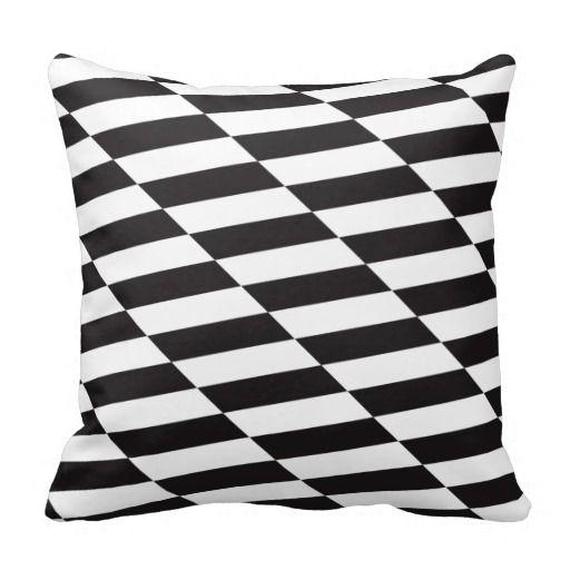 cojn almohada black u white squares cojn almohada blanco y negro cuadrados