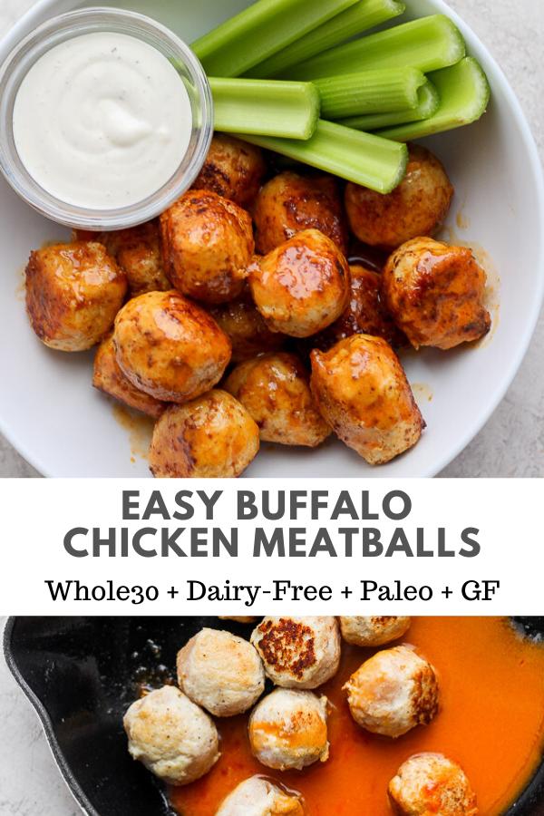 Photo of Buffalo Chicken Meatballs – the BEST chicken meatballs cooked in a delicious buffalo sauce!
