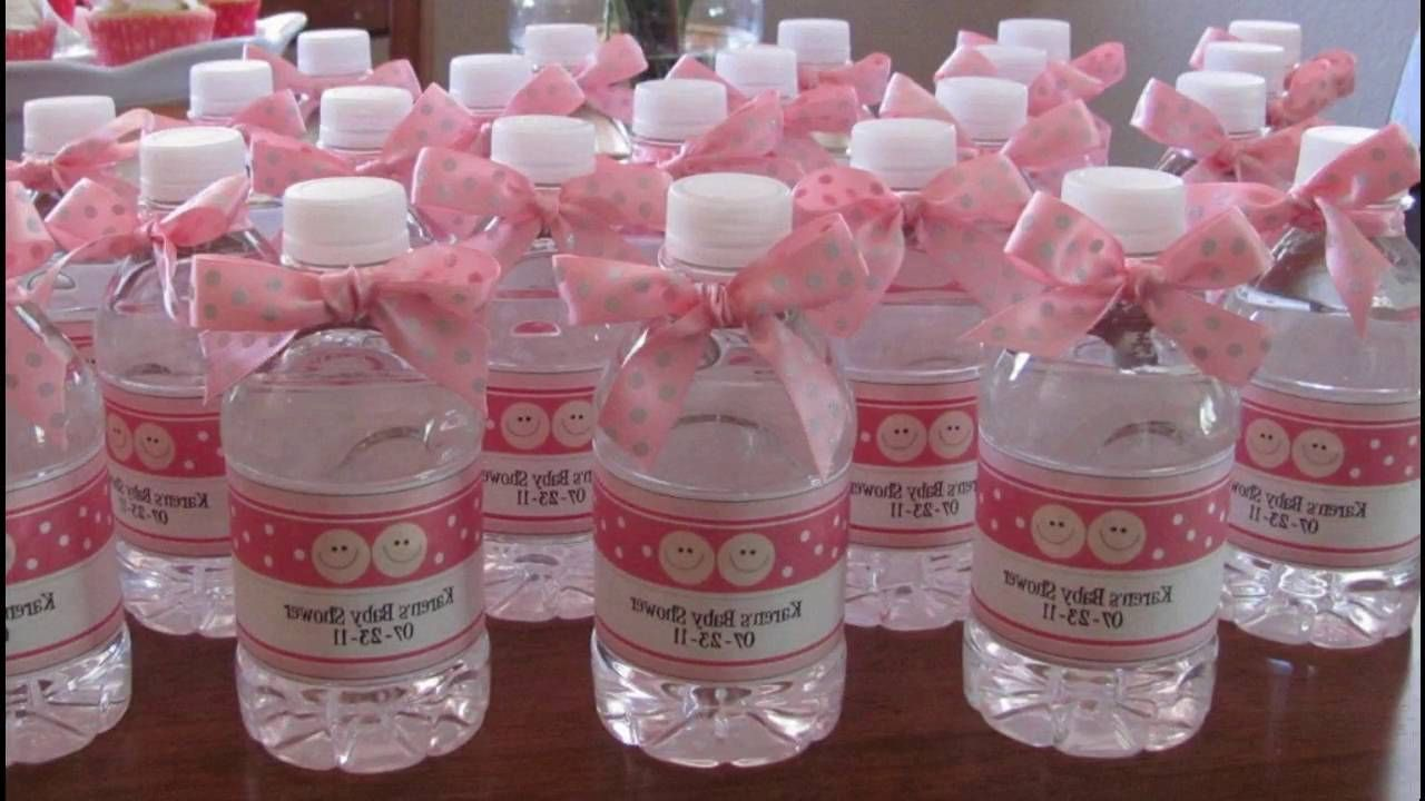 Decorative Plastic Bottles For Shower Diy Baby Shower Decoration Ideas For  A Girl YouTube Baby 47
