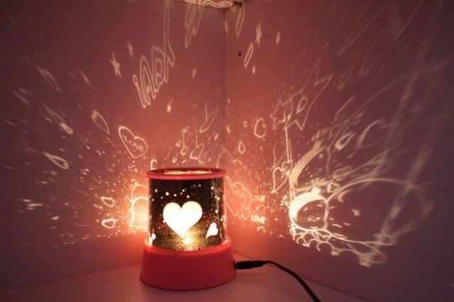 Rotating musical projection lamp projector starlight lamp romantic projector light sleep star light free shiping-inLight-Up Toys from Toys &...