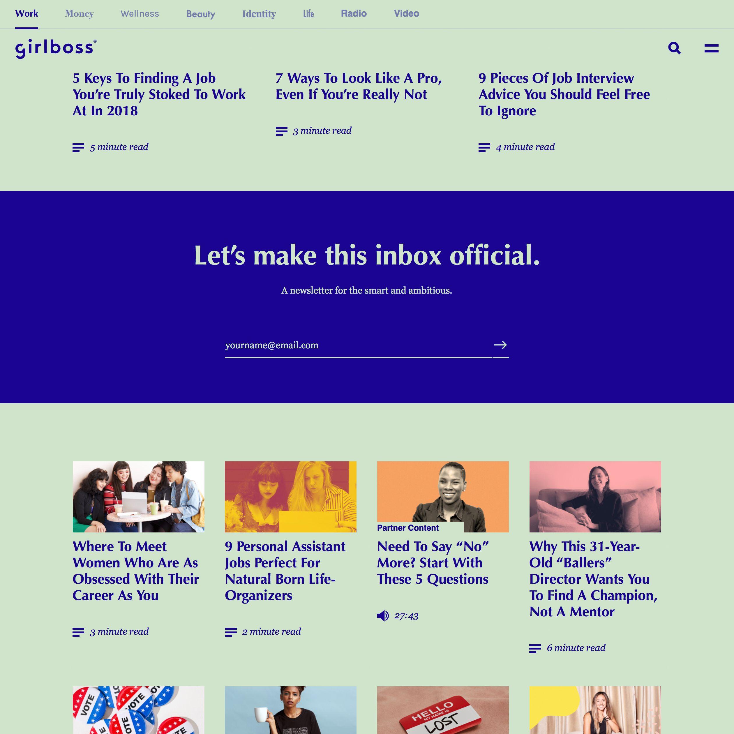 Fonts Used Optima Georgia Didot Karla Futura Playfair Display And Helvetica Typewolf Typography Inspiratio Portfolio Inspiration Find A Job Web Design