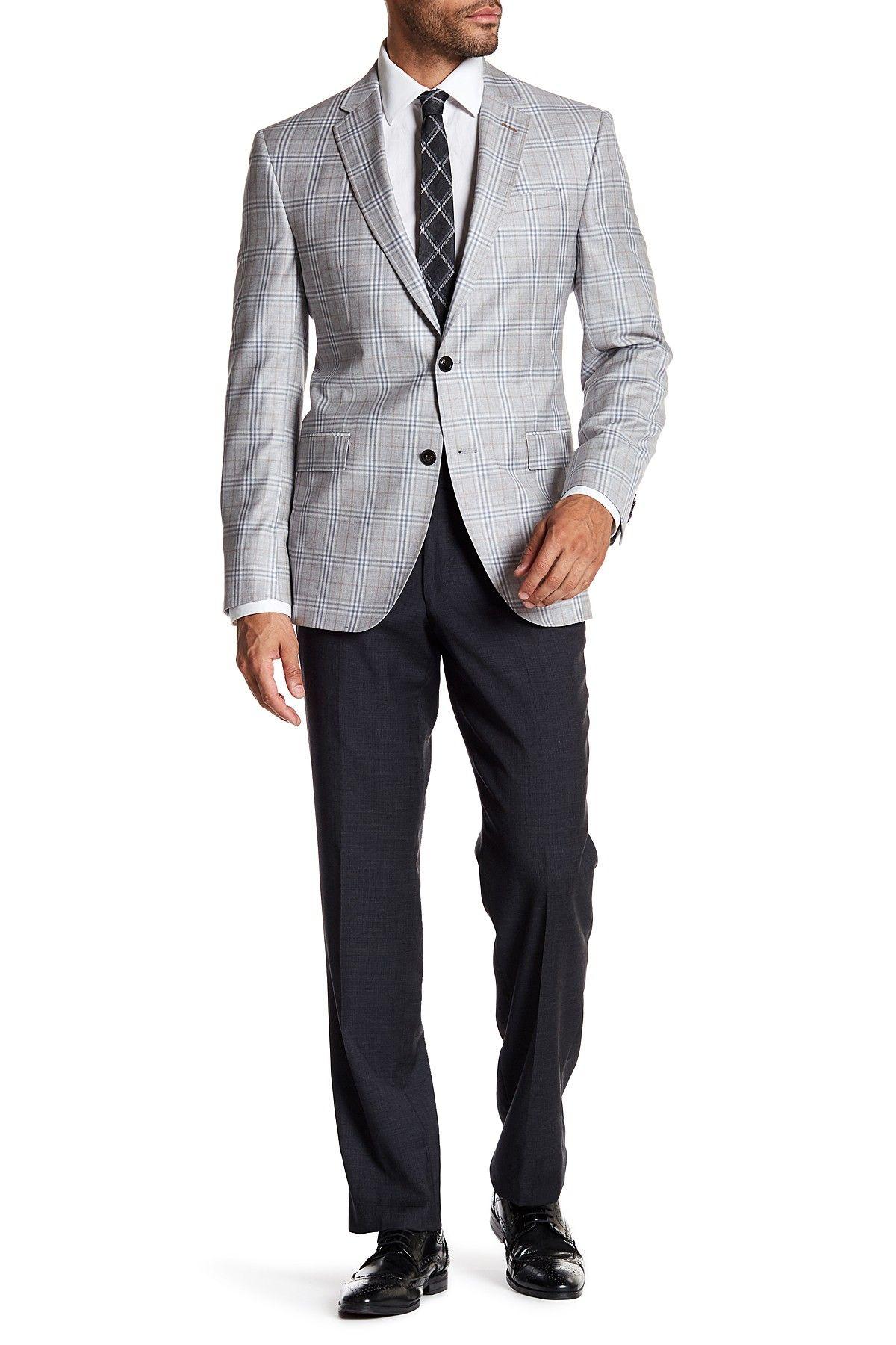 213107fe8 Jefferson Flat Front Wool Trousers Black Men