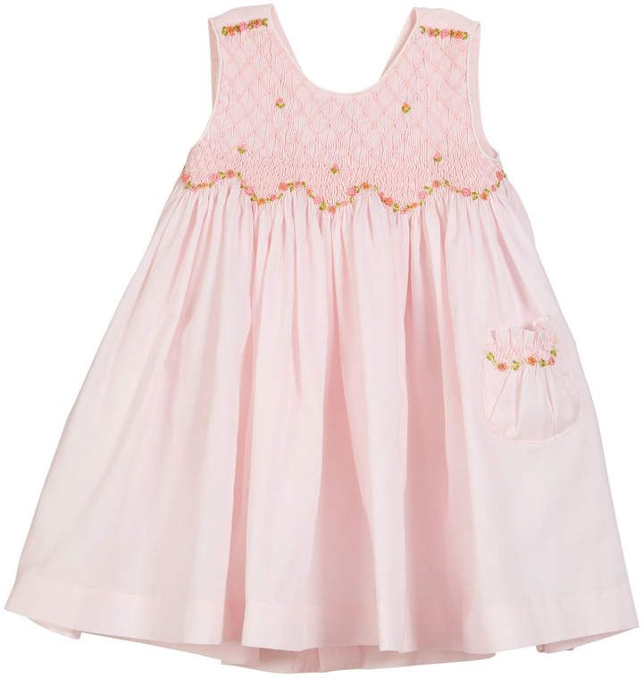16dfd15c5 Smocked Floral Embroidered Dress Size 2-4T | Products | Smocking ...