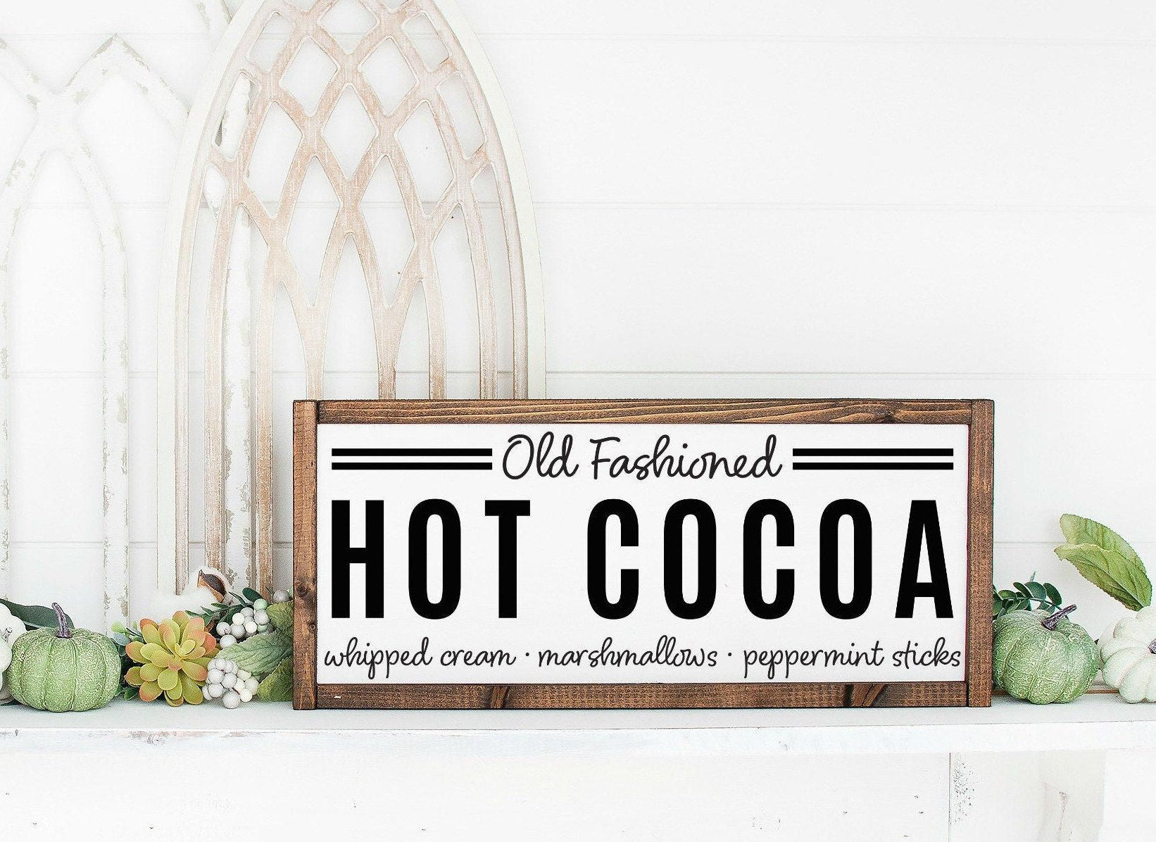 Hot Cocoa Bar Sign,Hot Chocolate Sign,Cocoa Bar,Coffee Bar Sign,Fall Sign,Fall Decor,Christmas Decor,Christmas Sign,Hot Chocolate Bar #hotchocolatebar