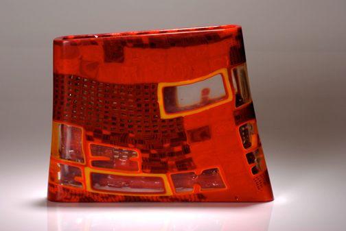 Giles Bettison 1966 Murrini Glass Billett Red 10 3 Glass Artists Glass Crafts Glass Artwork