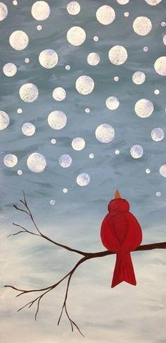 dipingere sui vetri utilizzando come decoro gli uccellini, l'idea si può catapultare nelle diverse stagioni cambiando semplicemente i colori
