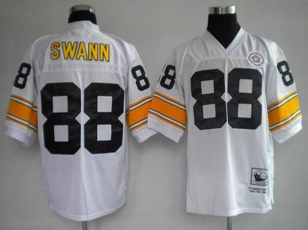 d828537c5c0 Mitchell and Ness Pittsburgh Steelers 88 Lynn Swann White Stitched Throwback  NFL Jersey  22.99