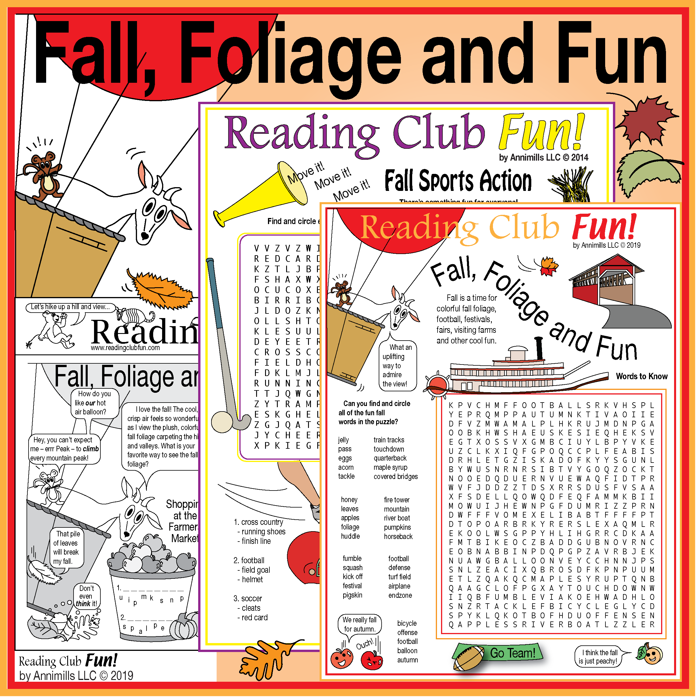 Fall Foliage And Fun Two Page Activity Set And Fall