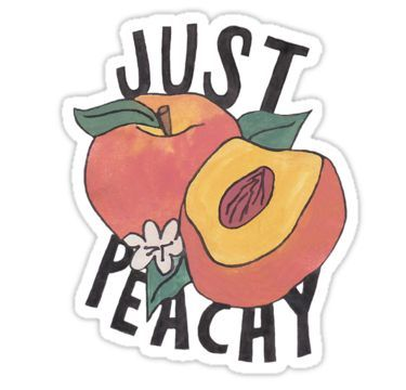 Just Peachy Sticker in 2019 Tumblr stickers, Aesthetic