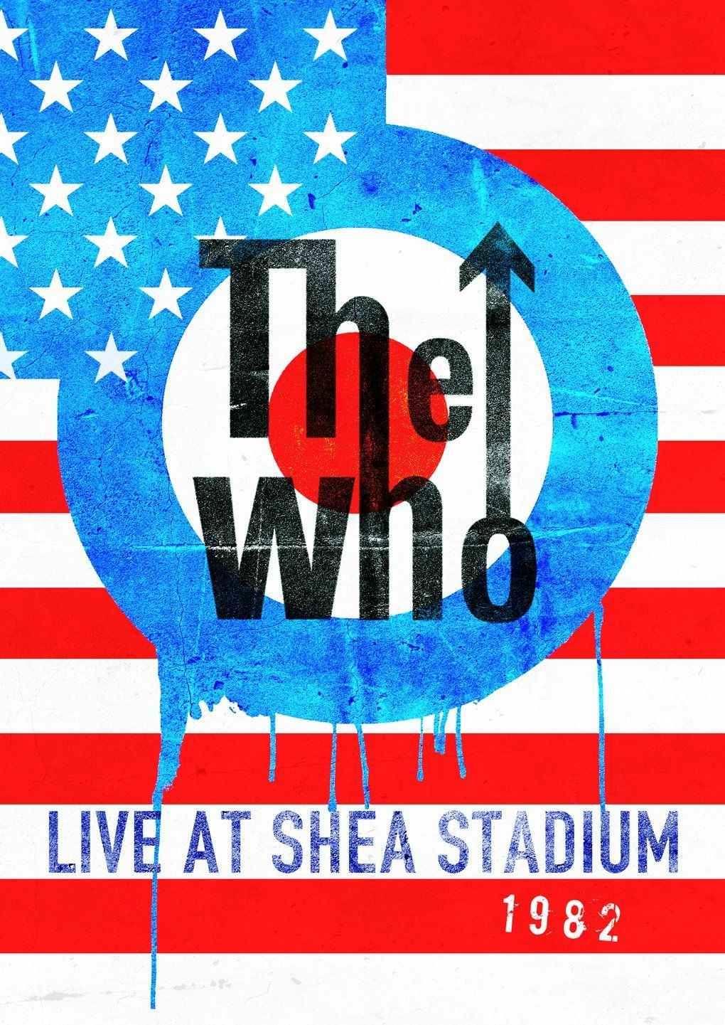 The Who Live At Shea Stadium 1982 Dvd Shea Stadium The Who Live Concert Posters