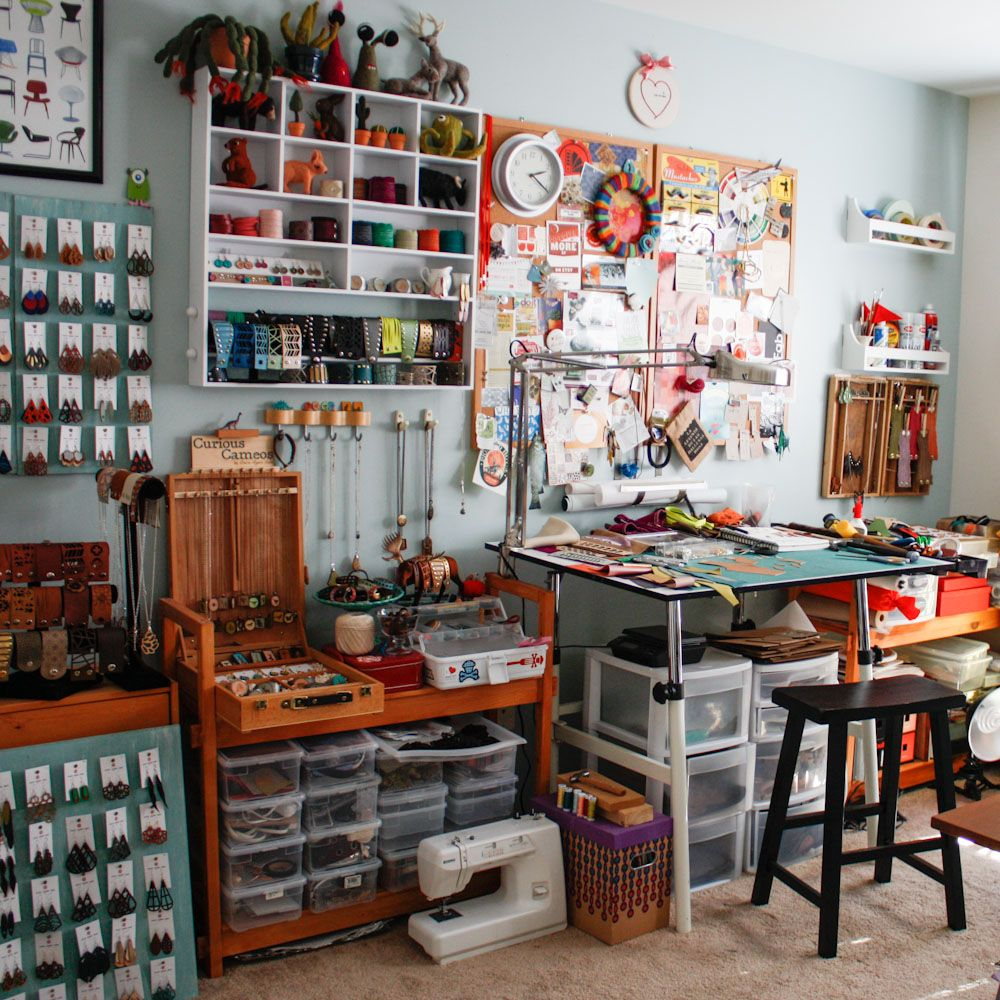 Once Again Sam Workstation Art Studio At Home Small Art Studio Art Studio Space